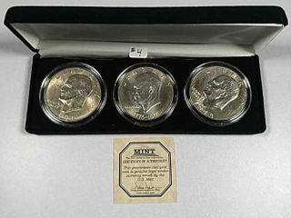 3 pc  Eisenhower Dollar set
