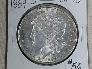 1889 S Morgan Dollar AU