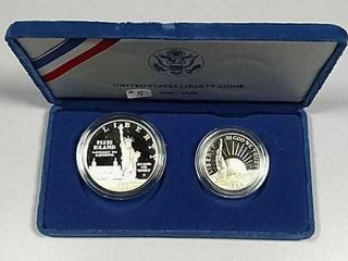 1986 Two Coin Commemorative Proof set