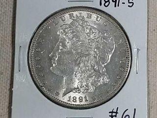1891 S Morgan Dollar AU