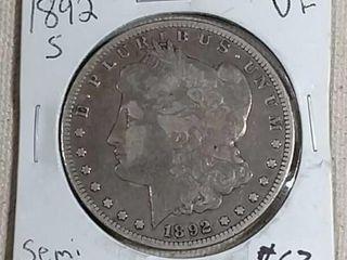 1892 S Morgan Dollar VF