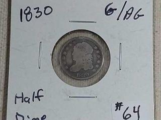 1830 Bust Half Dime G AG