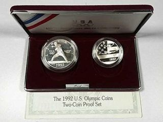 1992 Two Coin Olympic Comm  Proof set