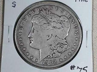 1902 S Morgan Dollar F