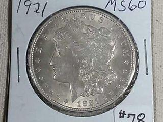 1921 Morgan Dollar MS