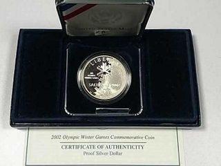 2002 Winter Olympics Comm  Proof Silver Dollar