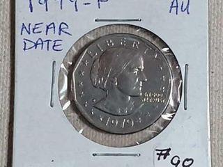 1979 P Near Date Susan B  Anthony Dollar AU