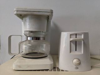 Toaster Oven  Mr Coffee 10 Cup Coffee Maker And Westclox Wall Clock