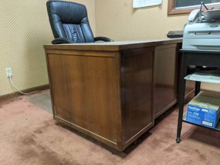Antique Desk With Rolling Chair