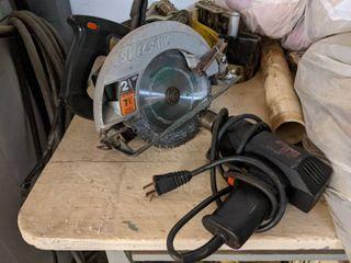 Skilsaw 7 1 4 Inch Circular Saw And Craftsman Drill