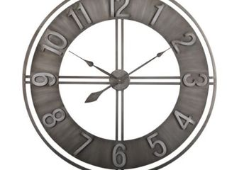 Carbon loft Maunchly Metal 30 inch Industrial Wall Clock   Retail 138 59