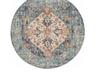 Nourish Passion Collection 5ft3in Round Rug