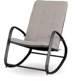 Sophia and William Outdoor Patio Rocking Chair Padded Steel Rocker Chairs Support 300lbs  Retail 105 49