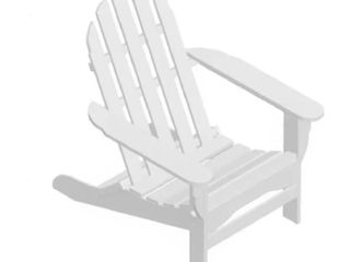 White Nelson Recycled Plastic Folding Adirondack Chair by Havenside Home