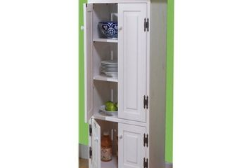 Simple living Extra tall Cabinet Weathered White Retail  220 99
