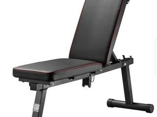 Black  Zenova Extra long Foldable Weight Bench With Adjustable Backrest  Retail 97 99