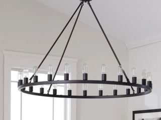The Gray Barn Hemsworth Oil Rubbed Bronze 24 light Chandelier  Retail 535 99 4 Foot Wide