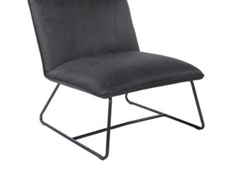 Strick  amp  Bolton Snoh Faux leather Chair with Gunmetal Frame