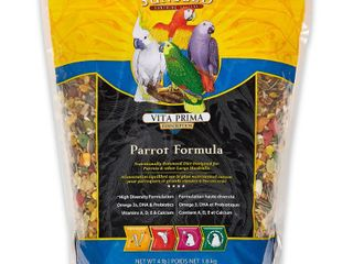 Sun Seed Company BSS49050 Vita Prima Daily Diet Parrot Food  4 Pound   6 Pack