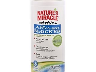 Nature s Miracle Allergen Blocker Household Wipes  Pack of 25 wipes