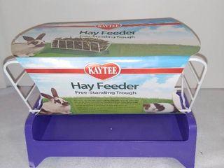 Kaytee Brand Hay Feeder Free Standing Trough