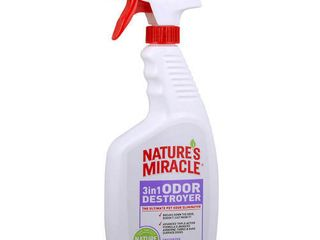Nature s Miracle 3 in 1 Odor Destroyer  Unscented  24 Ounce Spray  P 5451