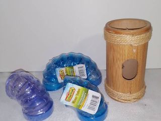 lot of 4 Critter Trail Plastic Elbow Tubes U Turn Tube and Wooden Tube Connectible Accessory