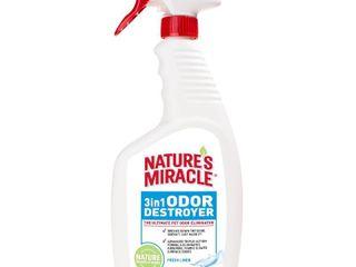 Natureas Miracle 3 in 1 Odor Destroyer 24 Ounces  Dog Odor Eliminator  Fresh linen Scent