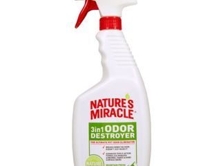 Nature s Miracle 3 in 1 Odor Destroyer  Mountain Fresh Scent  24 Ounce Spray  P 5453