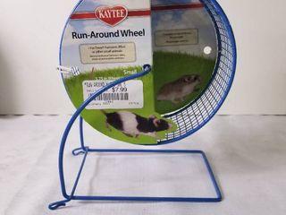 Small Blue Kaytee Run Around Wheel