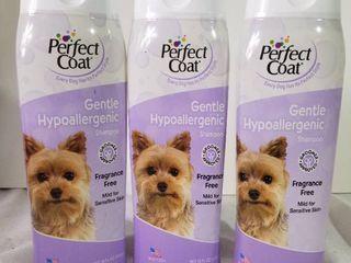 lot of Three Perfect Coat Gentle Hypoallergenic Dog Shampoo  16 Ounce  I610EA
