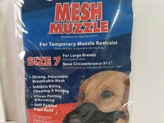 Best Fit Mesh Muzzle Size 7 for large Breeds