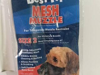 Best Fit Mesh Muzzle Size 2 For Miniature Breeds