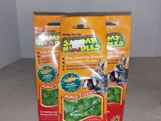 lot Of 3 Penn Plax Sammy Noodles For Rabbits  Guinea Pigs  Hamsters   Gerbils