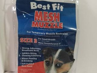 Best Fit Mesh Muzzle Size 3 For Small Breeds