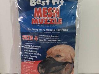 Best Fit Mesh Muzzle Size 4 for Medium Breeds