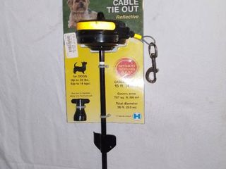 Howard Pet Products Retractable Cable Tie Out 15 Feet