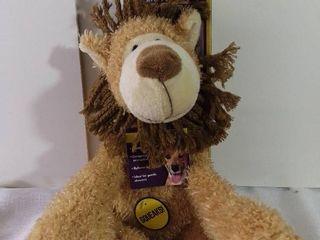 Multipet Cuddle Buddies Stuffed lion Squeaker Toy