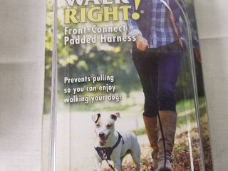 Walk Right Front Connected Dog Harness  Small  Black