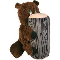 Kong 293044 Huggz Hiderz Beaver Toy for Dog   large