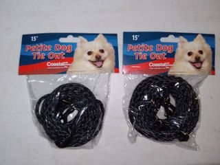 lot Of 2 Poly Tie Out 15 ft long