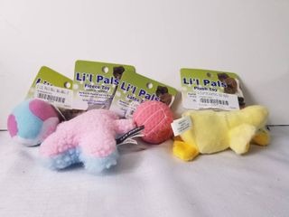 lot of Four Cute Smalk Dog Toys