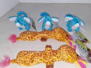 lot Of 5 li l Pals Plush Crinkle Toy
