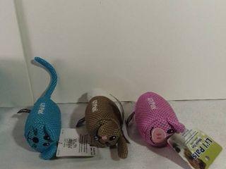 lot of 3 li l Pals Mesh Squeaker Toys