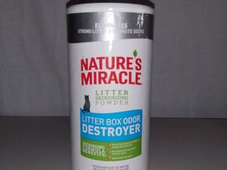 Natures Miracle litter Box Odor Destroyer Powder 20 Ounce Can