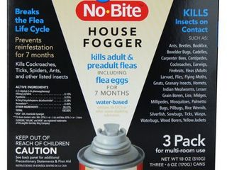 Durvet Flea And Tick D No Bite Igr House Fogger 6 Oz 3 Pk