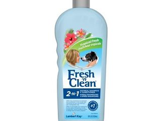 Fresh n Clean Pet 2 in 1 Oatmeal and Baking Soda Formula Conditioning Shampoo  18 Ounce