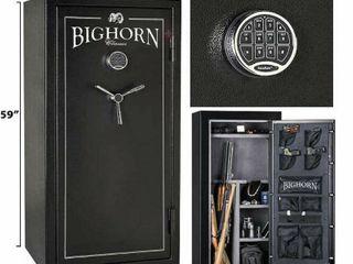 Bighorn 19 1 CuFt Gun Safe  19ECX  59  H x 28  W x 20  D Firearm Rifle Vault