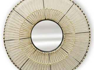 GwG Outlet Natural Woven Wall Mirror