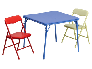 Flash Furniture 3 Piece Kids Colorful Folding Table and Chair Set